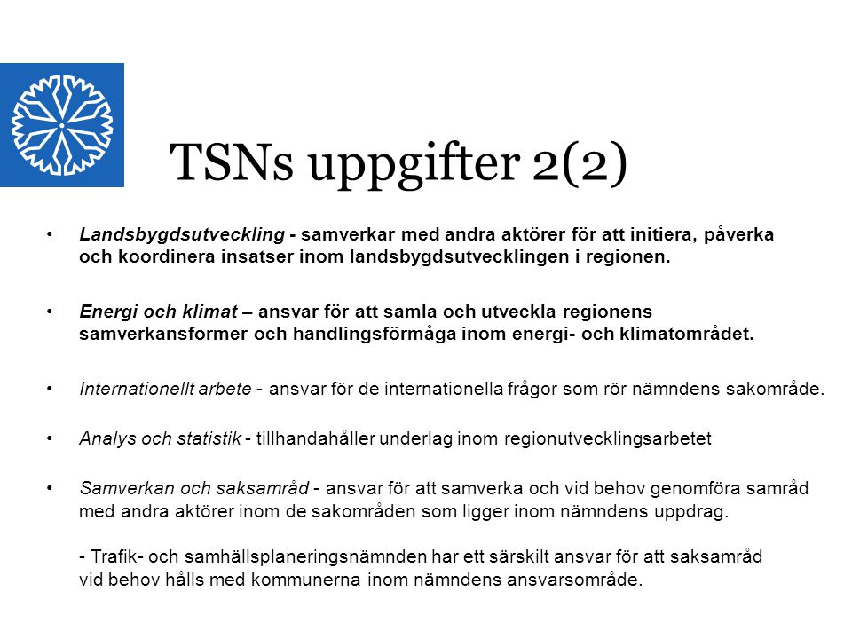 TSNs uppgifter 2(2)
