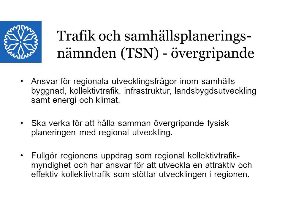 Trafik och samhällsplanerings-nämnden (TSN) - övergripande