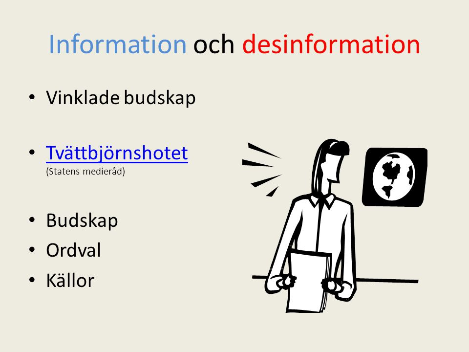 Information och desinformation