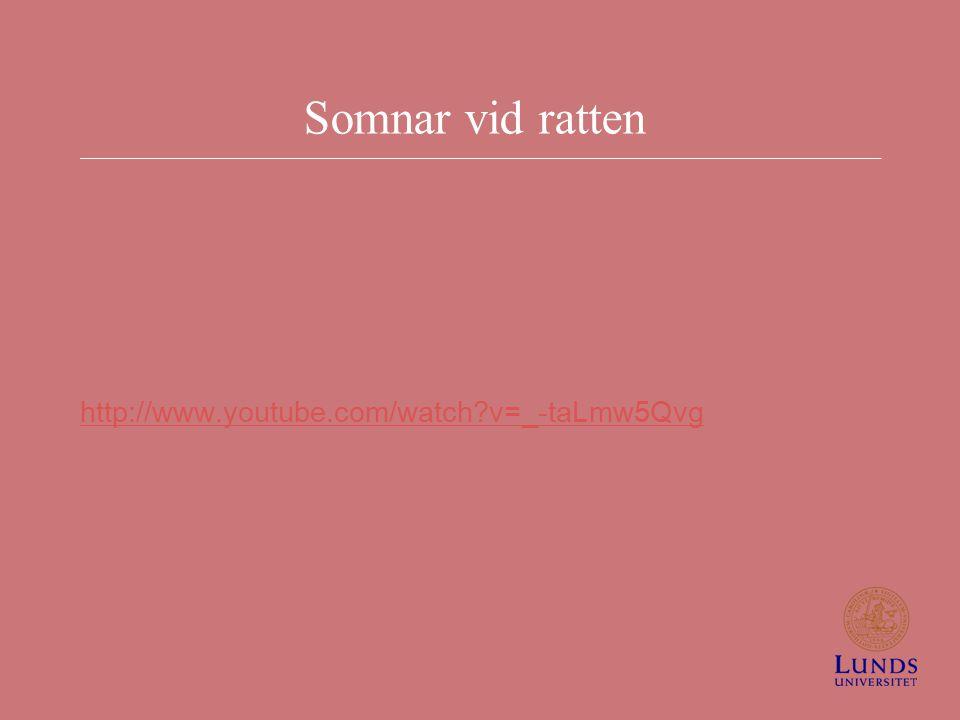 Somnar vid ratten http://www.youtube.com/watch v=_-taLmw5Qvg
