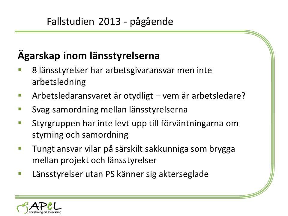 Fallstudien 2013 - pågående