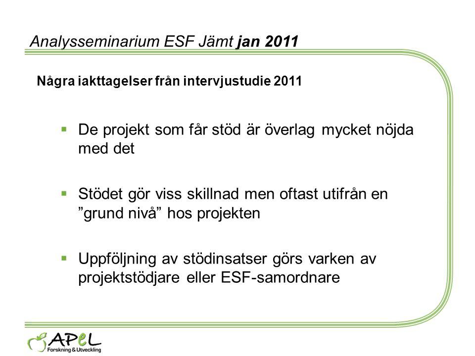 Analysseminarium ESF Jämt jan 2011