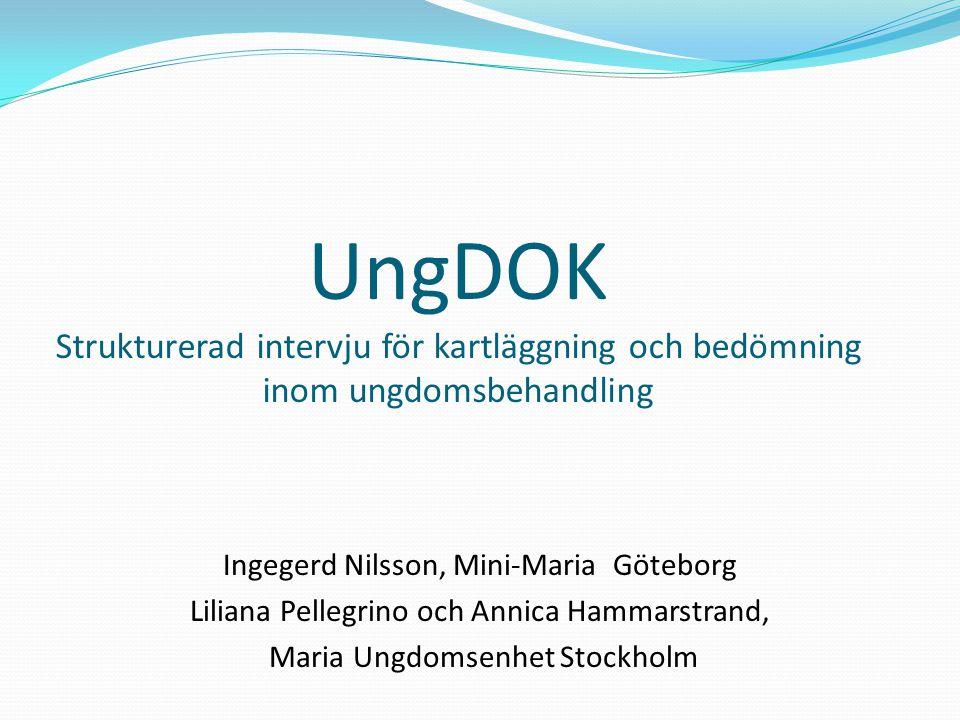 UngDOK Strukturerad intervju för kartläggning och bedömning inom ungdomsbehandling