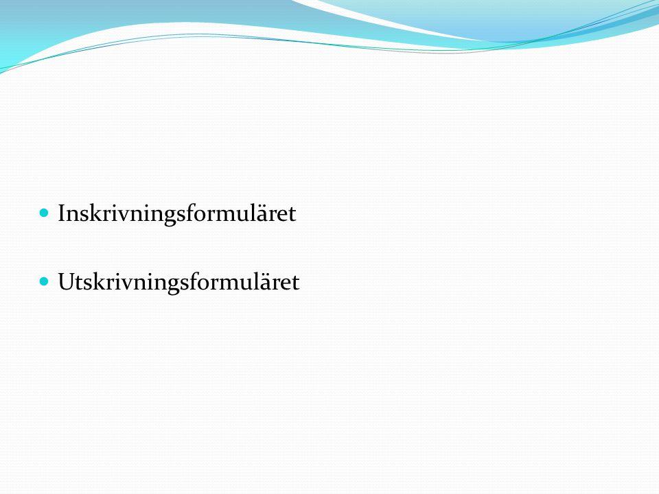 Inskrivningsformuläret