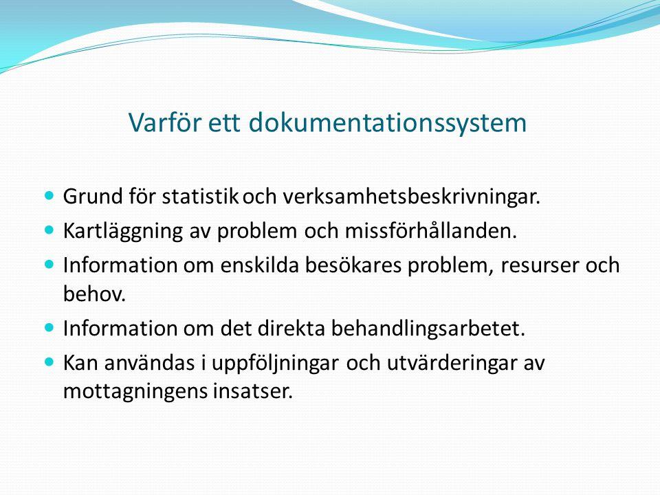 Varför ett dokumentationssystem