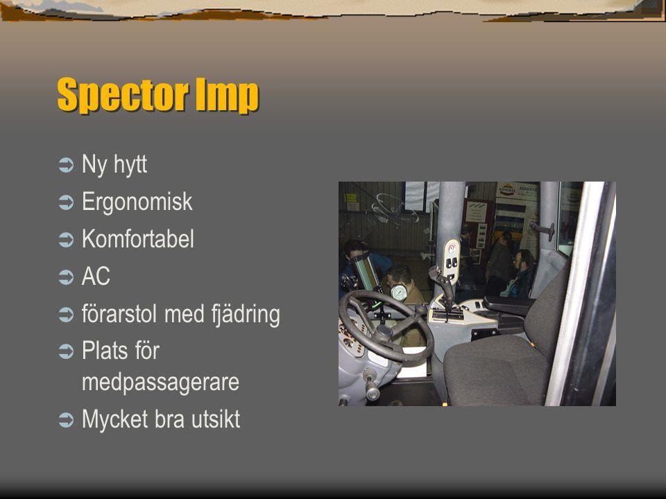 Spector Imp Ny hytt Ergonomisk Komfortabel AC förarstol med fjädring