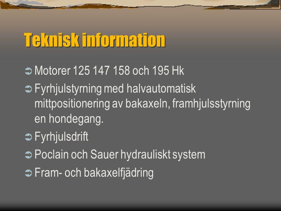 Teknisk information Motorer 125 147 158 och 195 Hk