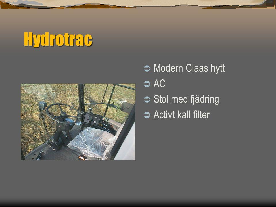 Hydrotrac Modern Claas hytt AC Stol med fjädring Activt kall filter