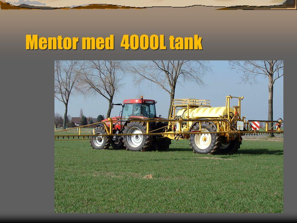 Mentor med 4000L tank