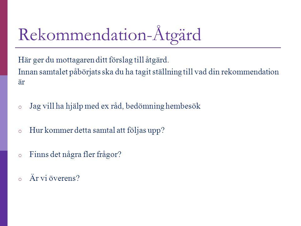 Rekommendation-Åtgärd