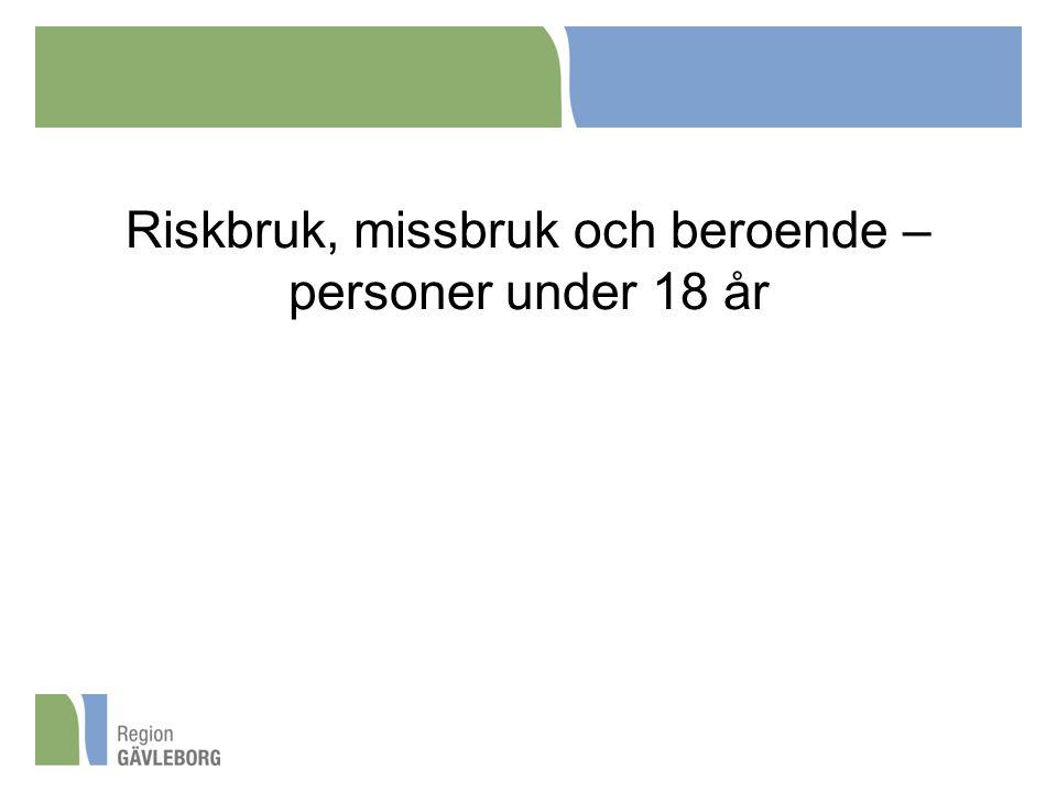 Riskbruk, missbruk och beroende – personer under 18 år