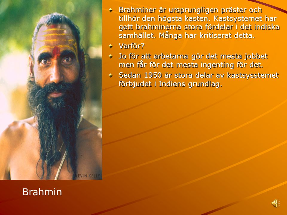 Brahminer är ursprungligen präster och tillhör den högsta kasten