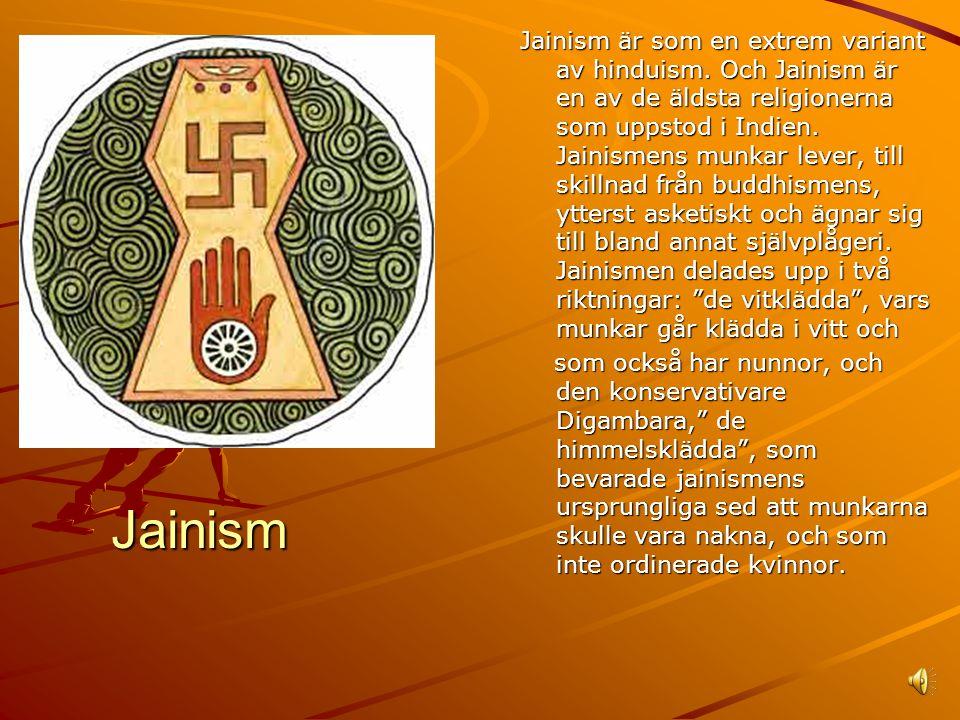 Jainism är som en extrem variant av hinduism