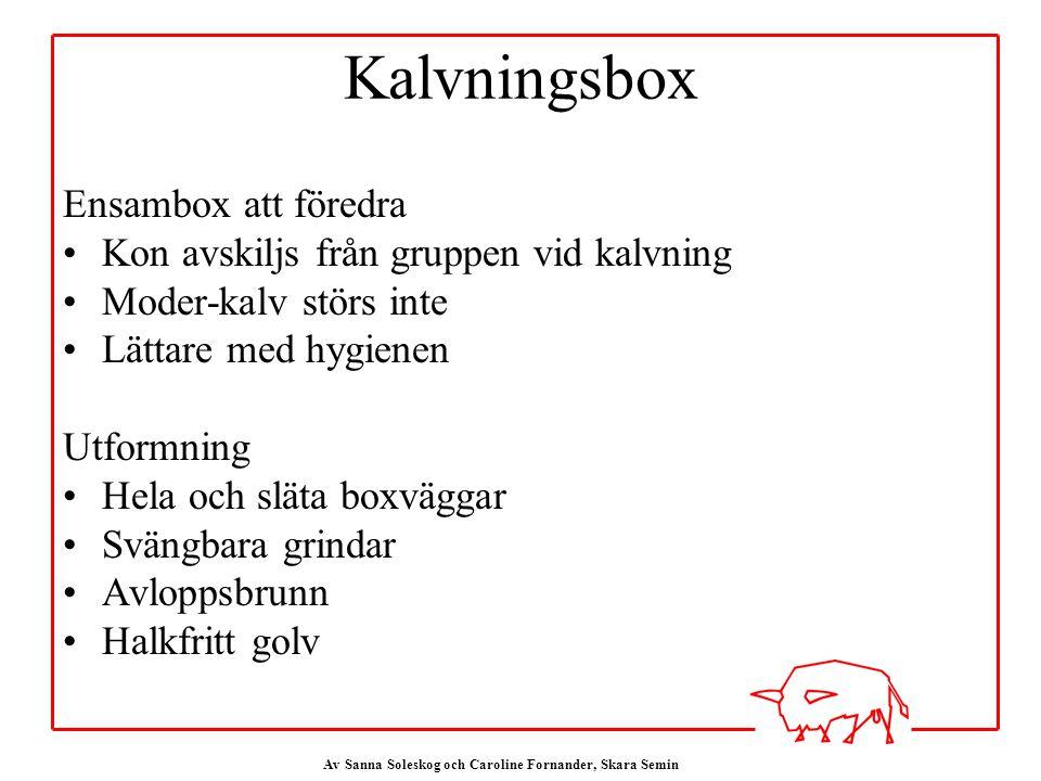 Kalvningsbox Ensambox att föredra