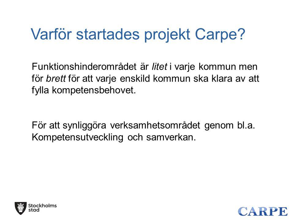 Varför startades projekt Carpe