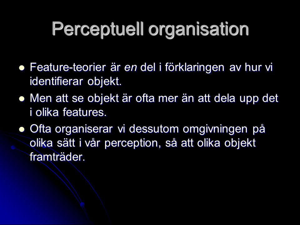 Perceptuell organisation