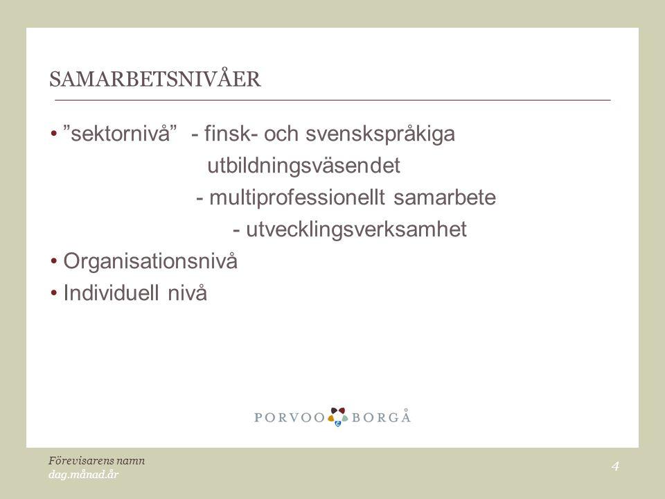 sektornivå - finsk- och svenskspråkiga utbildningsväsendet