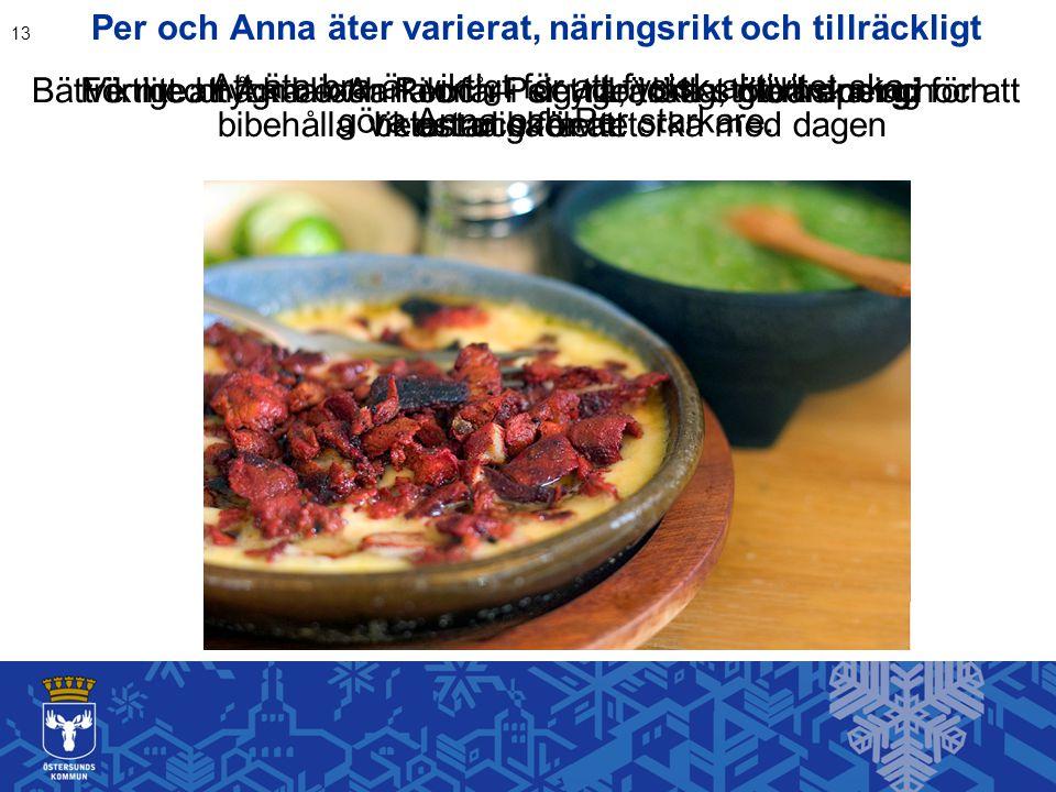 Per och Anna äter varierat, näringsrikt och tillräckligt