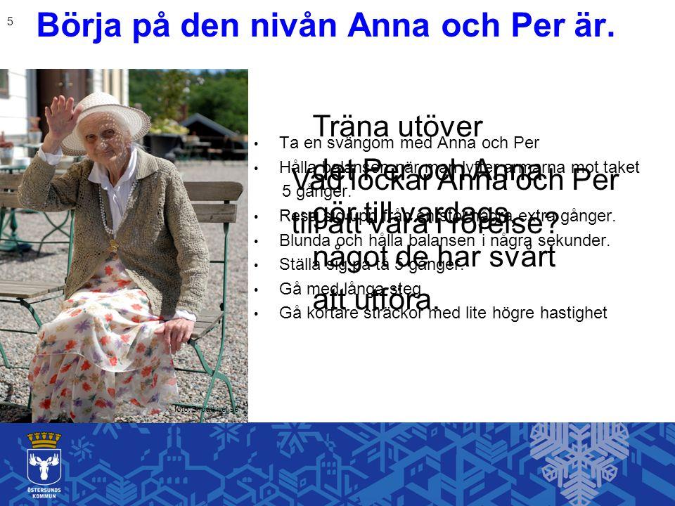 Börja på den nivån Anna och Per är.