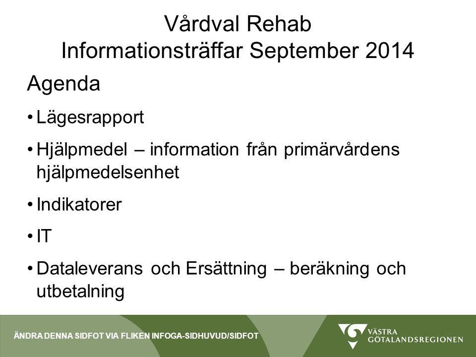 Vårdval Rehab Informationsträffar September 2014