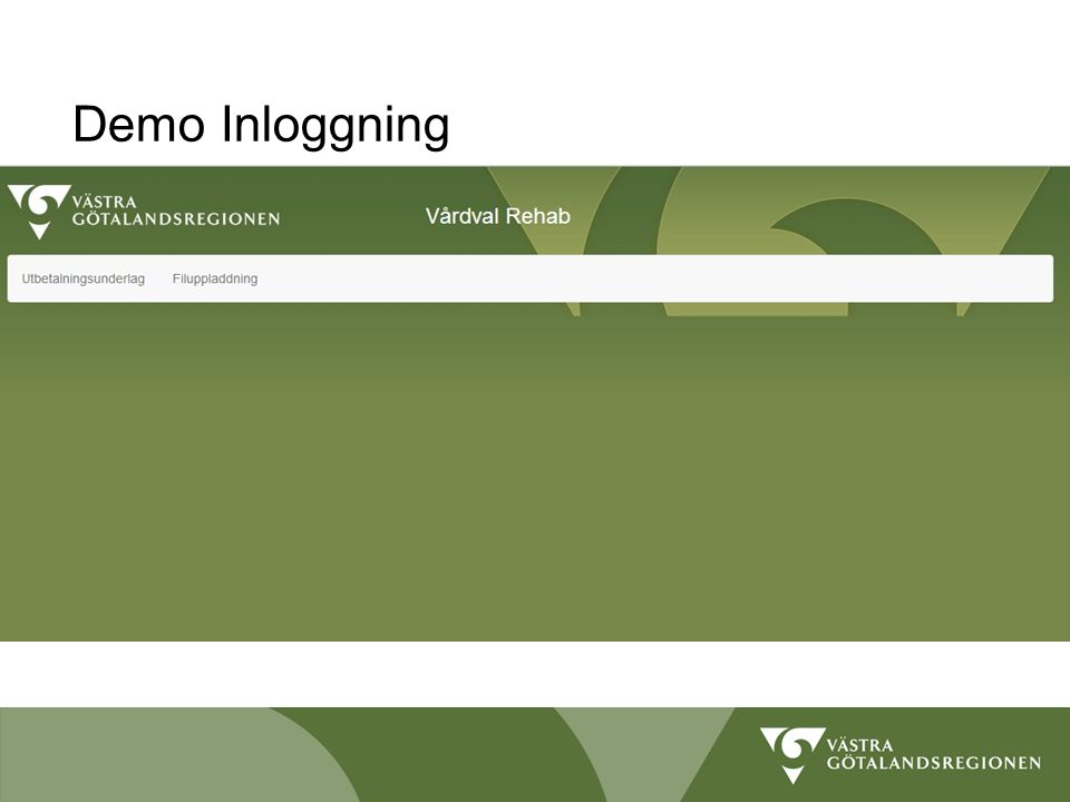 Demo Inloggning