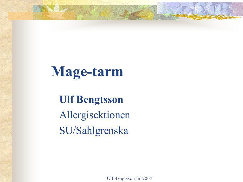 Mage-tarm Ulf Bengtsson Allergisektionen SU/Sahlgrenska