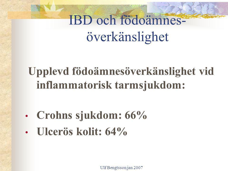 IBD och födoämnes- överkänslighet