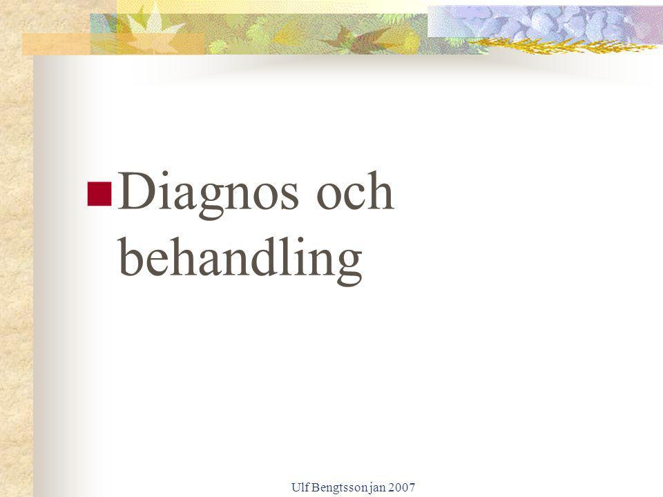 Diagnos och behandling