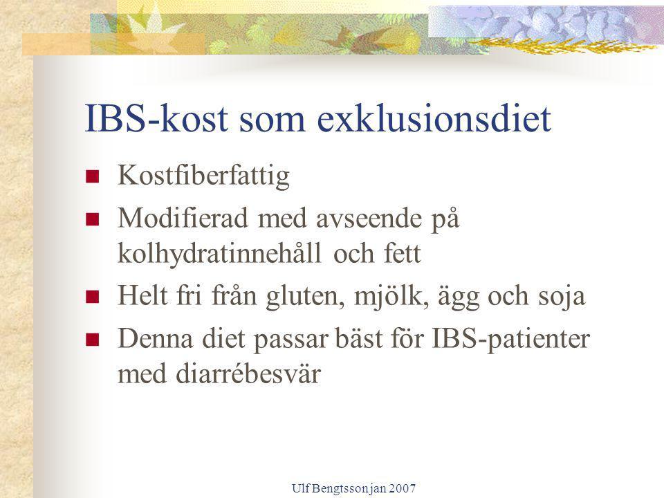 IBS-kost som exklusionsdiet