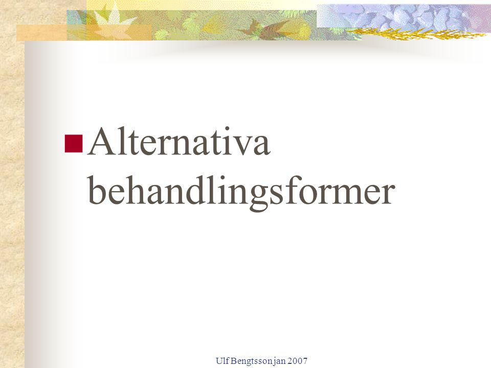 Alternativa behandlingsformer