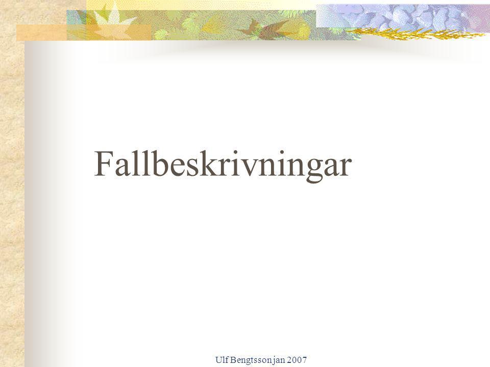 Fallbeskrivningar Ulf Bengtsson jan 2007