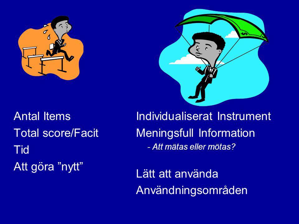 Individualiserat Instrument Meningsfull Information