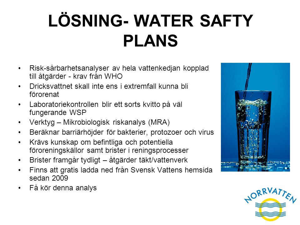 LÖSNING- WATER SAFTY PLANS