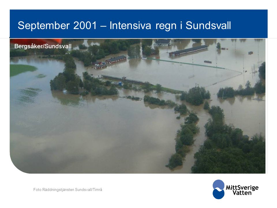 September 2001 – Intensiva regn i Sundsvall