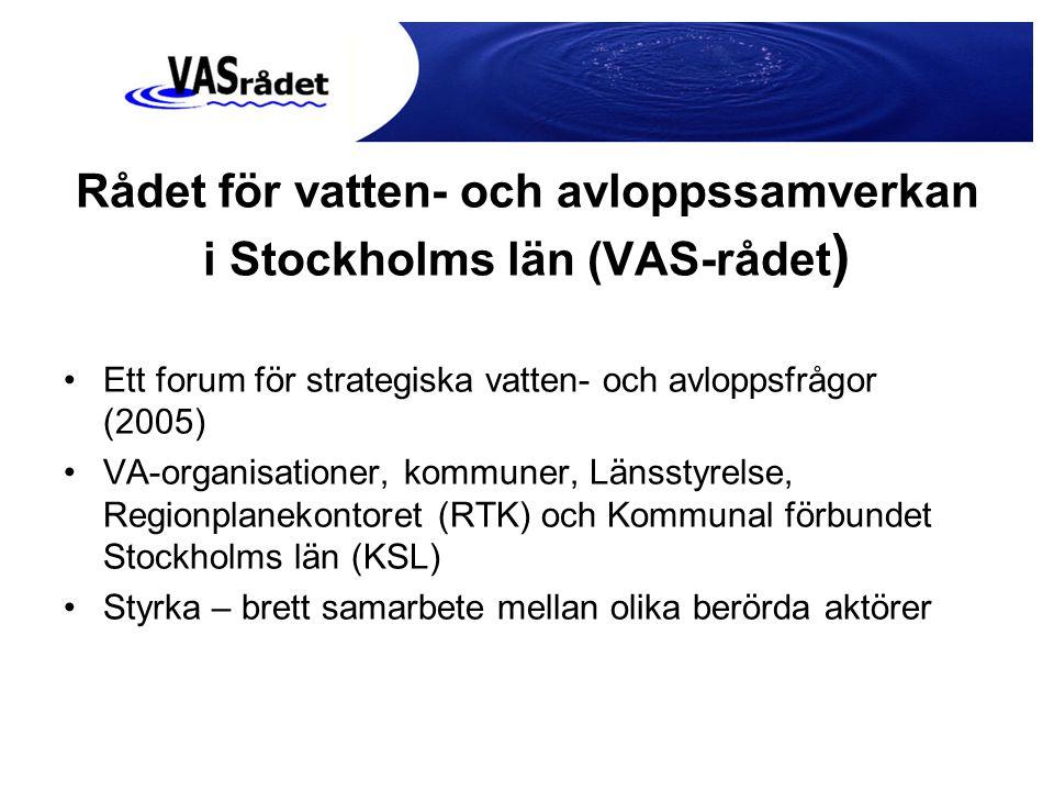 Rådet för vatten- och avloppssamverkan i Stockholms län (VAS-rådet)