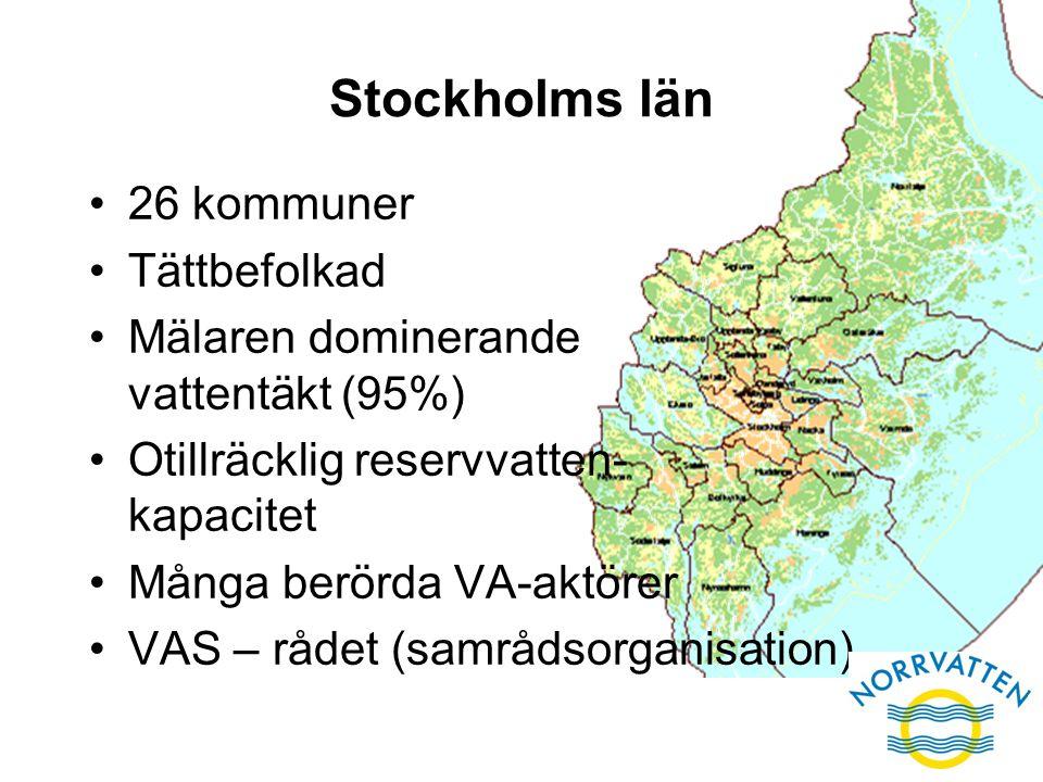 Stockholms län 26 kommuner Tättbefolkad