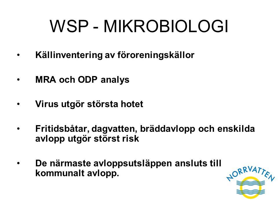 WSP - MIKROBIOLOGI Källinventering av föroreningskällor