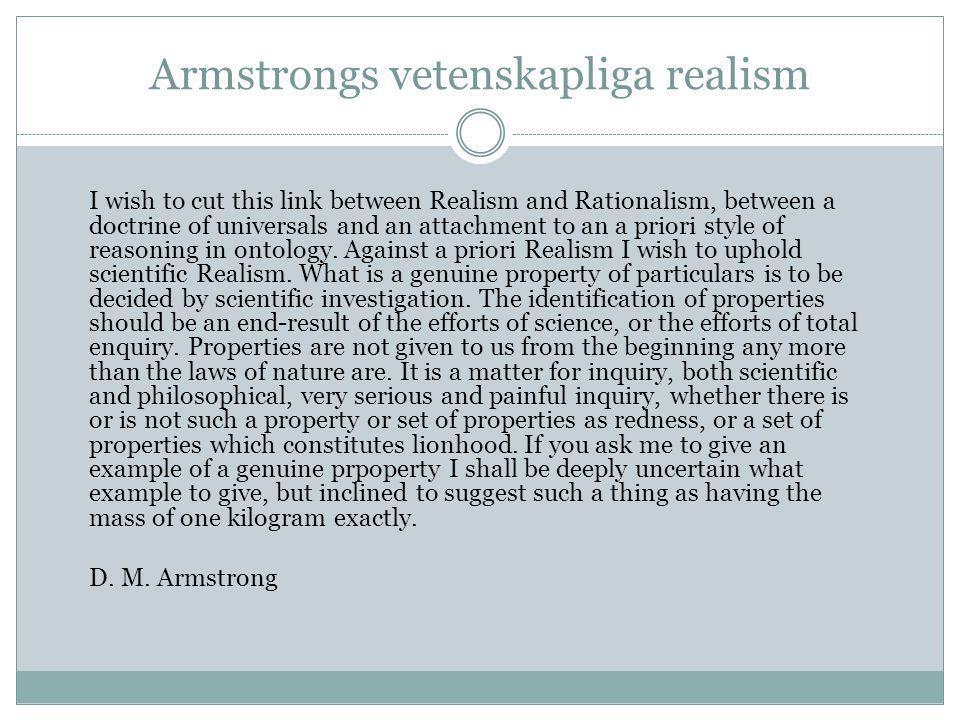 Armstrongs vetenskapliga realism
