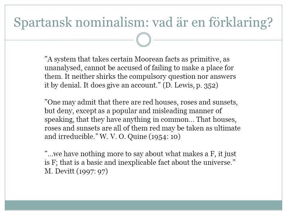 Spartansk nominalism: vad är en förklaring