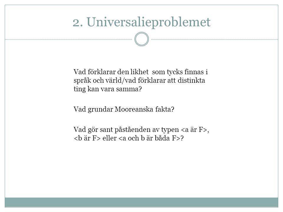 2. Universalieproblemet