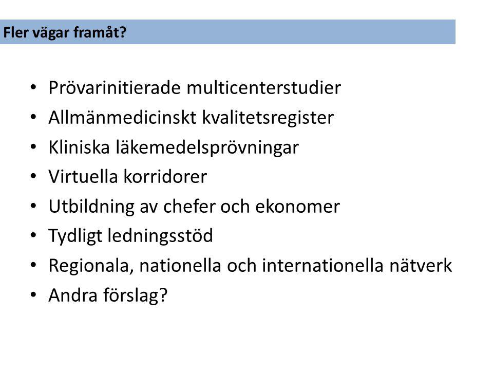 Prövarinitierade multicenterstudier Allmänmedicinskt kvalitetsregister