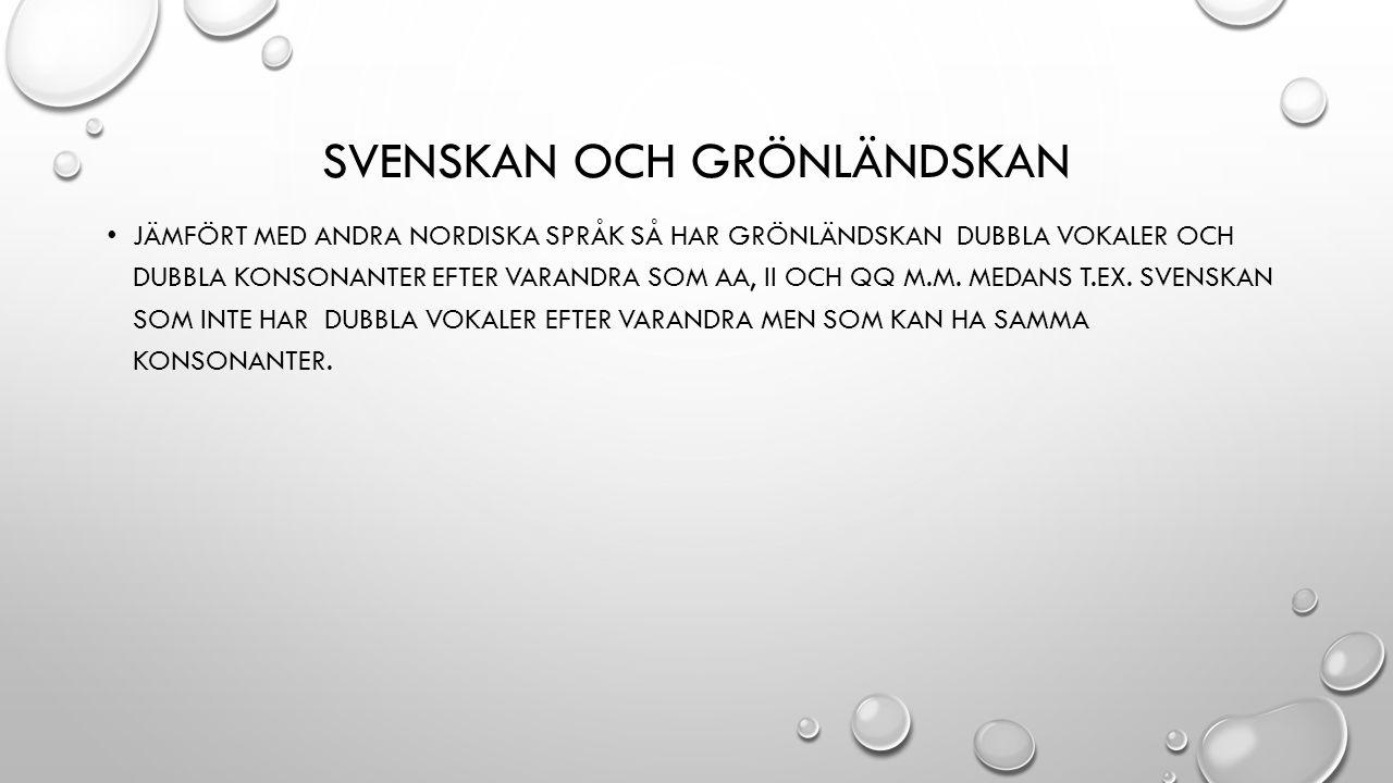 Svenskan och Grönländskan