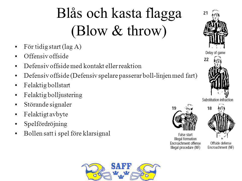Blås och kasta flagga (Blow & throw)