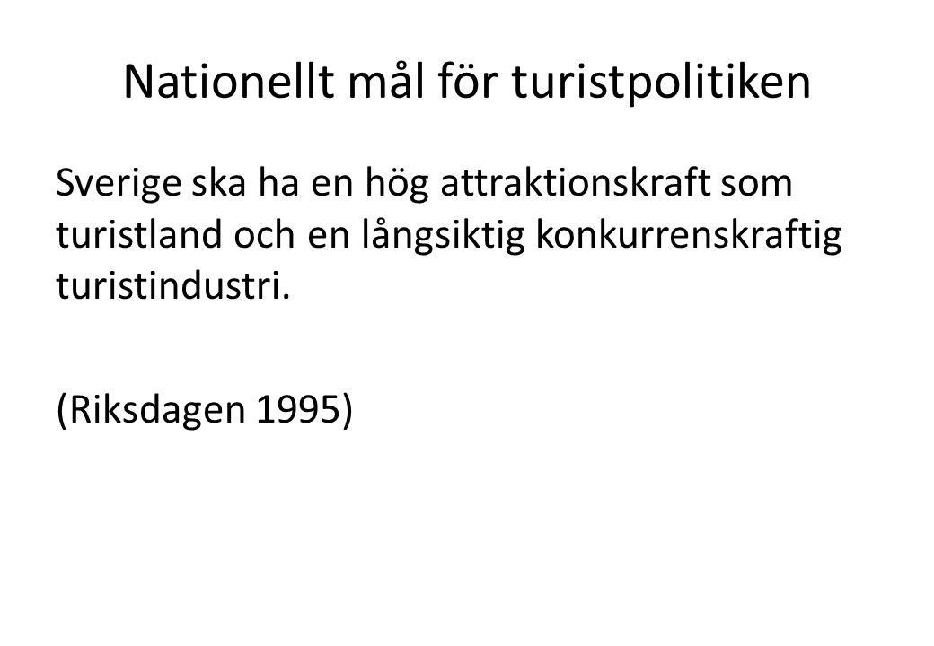 Nationellt mål för turistpolitiken