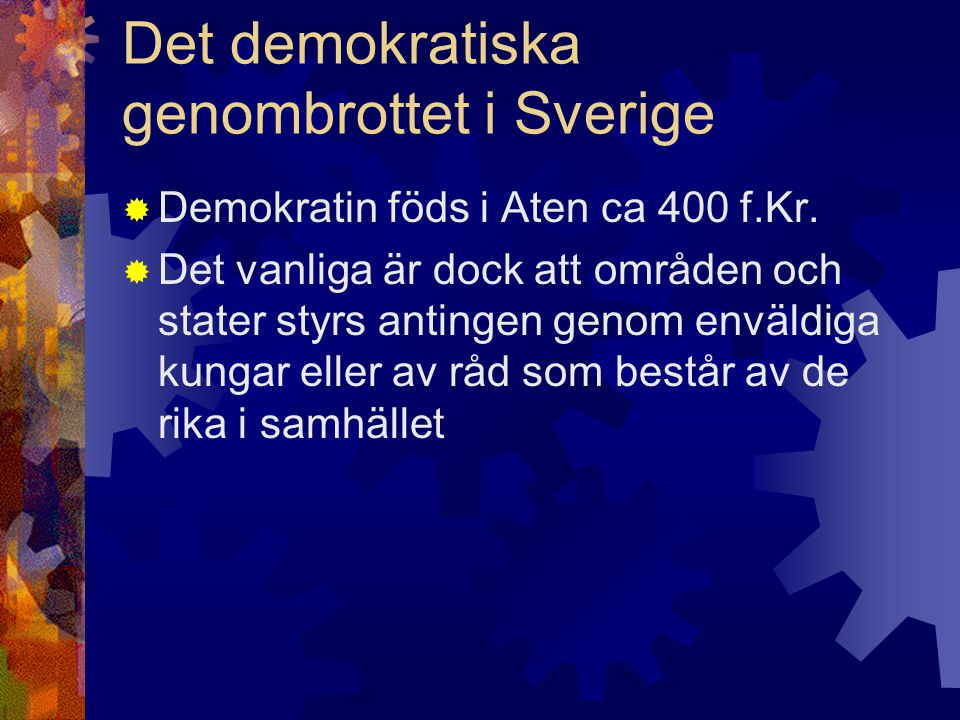 Det demokratiska genombrottet i Sverige