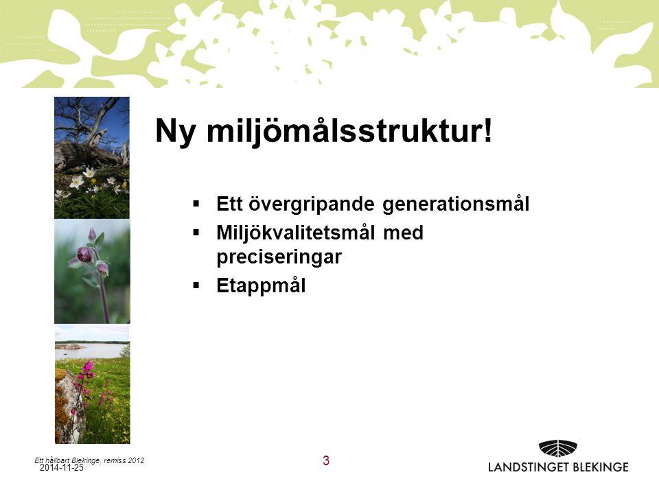 Ny miljömålsstruktur! Ett övergripande generationsmål