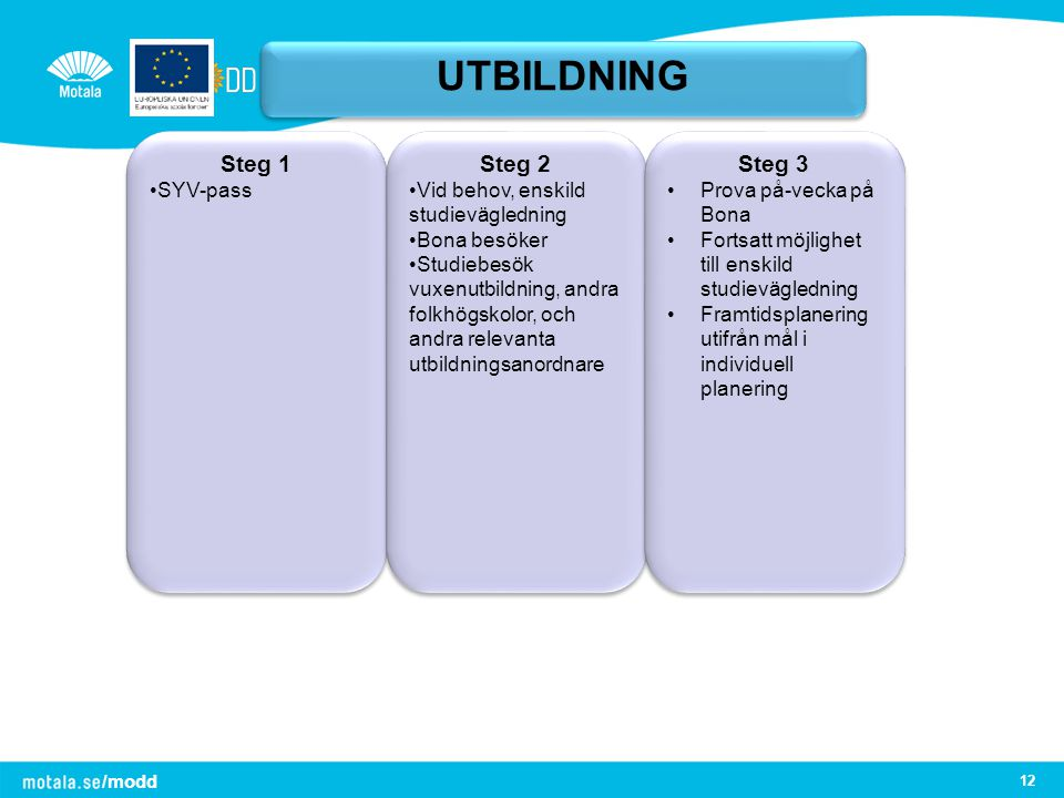 UTBILDNING Steg 1 Steg 2 Steg 3 SYV-pass