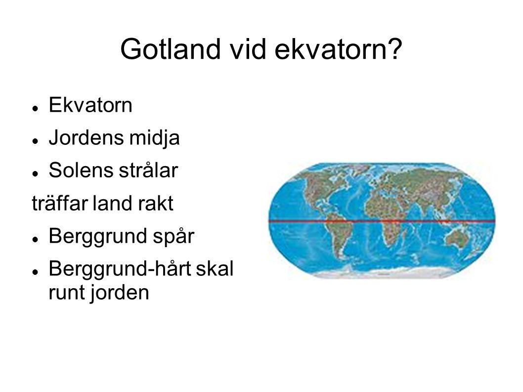 Gotland vid ekvatorn Ekvatorn Jordens midja Solens strålar