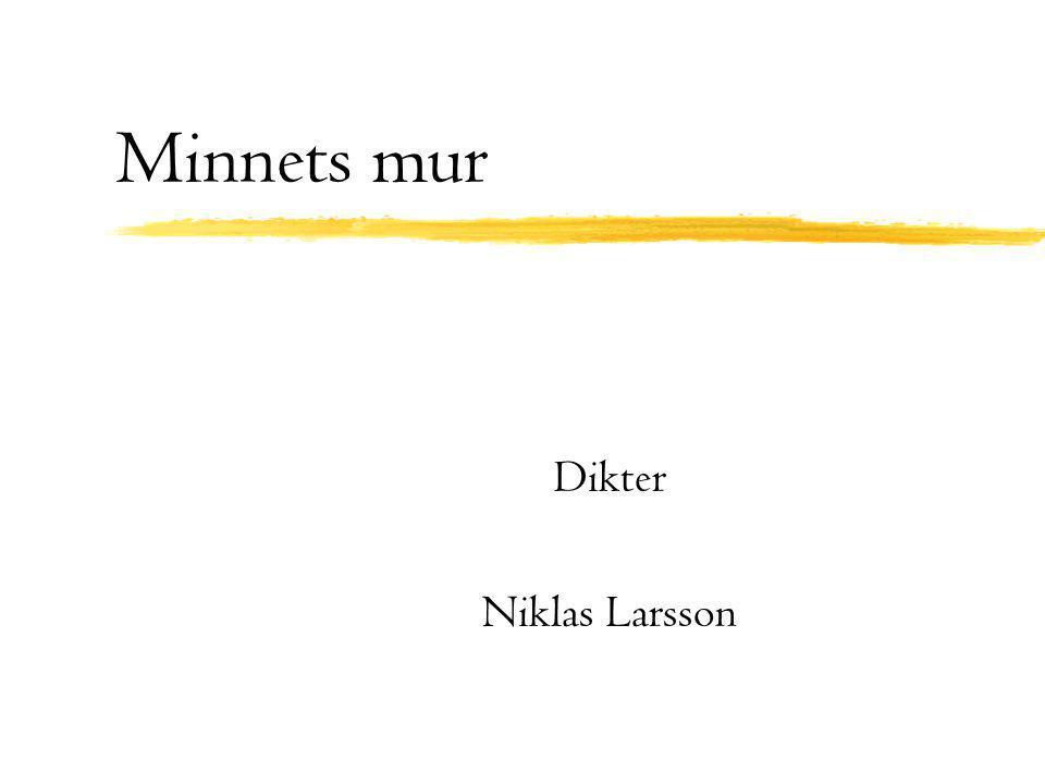 Minnets mur Dikter Niklas Larsson