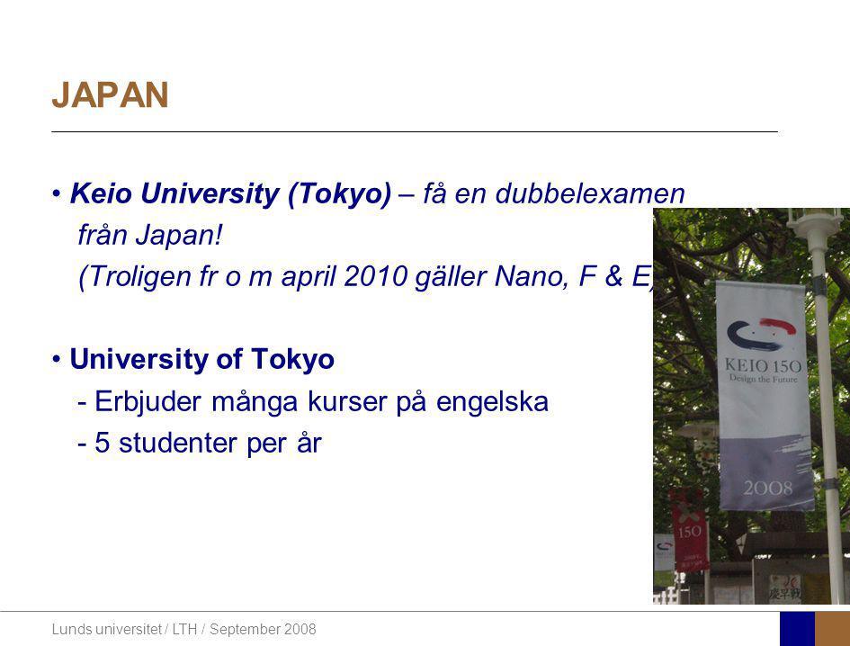 JAPAN Keio University (Tokyo) – få en dubbelexamen från Japan!